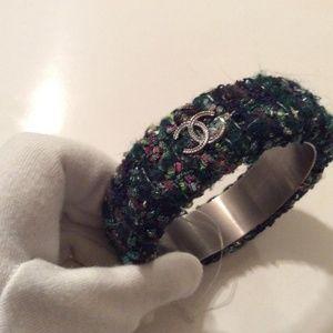 CHANEL Jewelry - Multi Color New '13a Paris Edinburgh Tweed Bracele